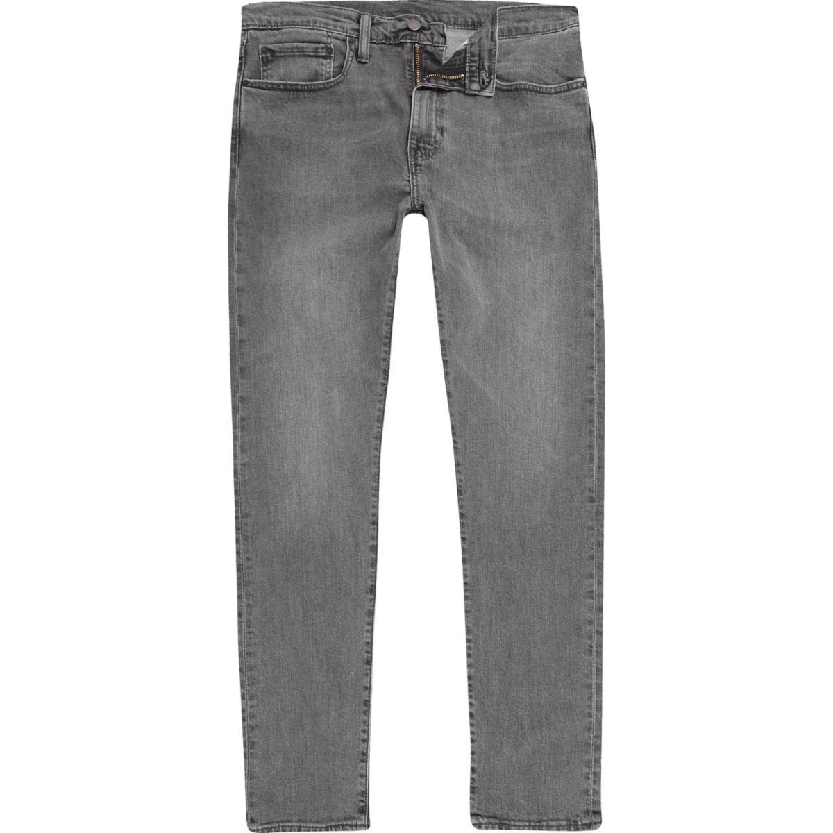 Levi's grey 512 slim taper fit jeans