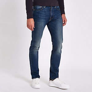 Levi's 510 - Donkerblauwe skinny-fit jeans