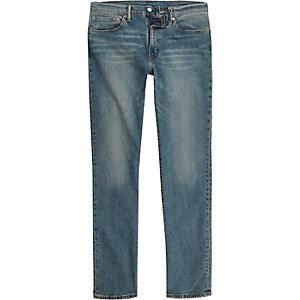Levi's – 511 – Blaue Slim Fit Jeans im Used Look