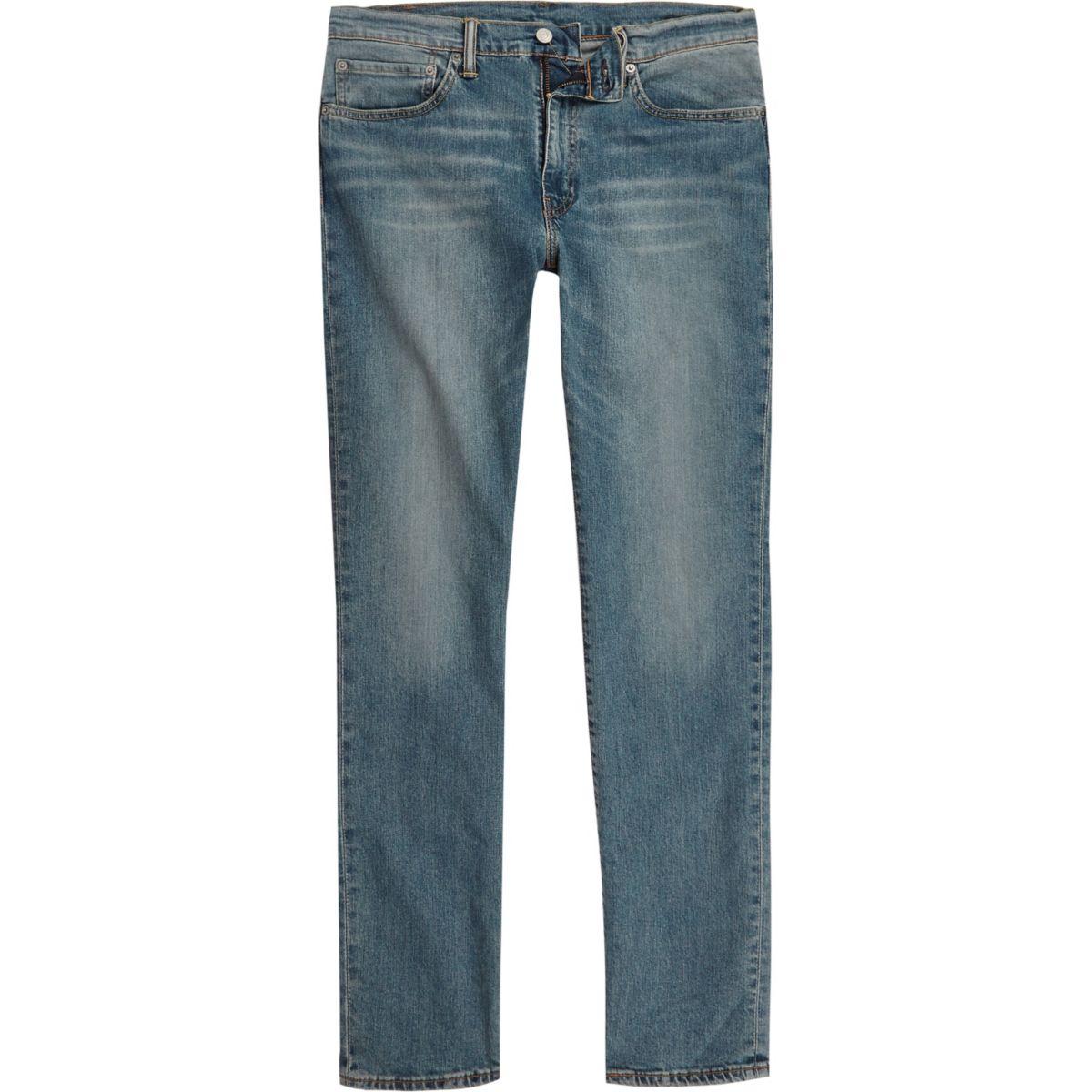 Levi's blue 511 distressed slim fit jeans