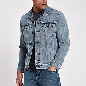 Levi's – Veste de camionneur en jean bleu clair