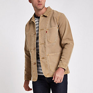 Levi's light brown button up jacket