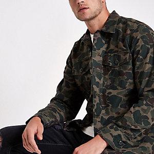 Veste-chemise Levi's à imprimé camouflage vert style militaire