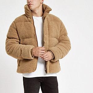 Wattierte Jacke in Ecru