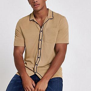 Chemise écru à manches courtes