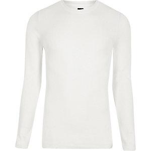 RI Studio - Witte aansluitende pullover met ronde hals