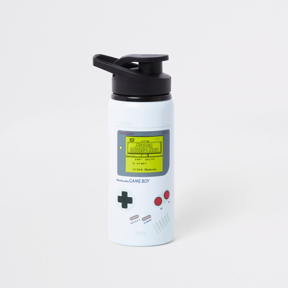 Grey Gameboy water bottle