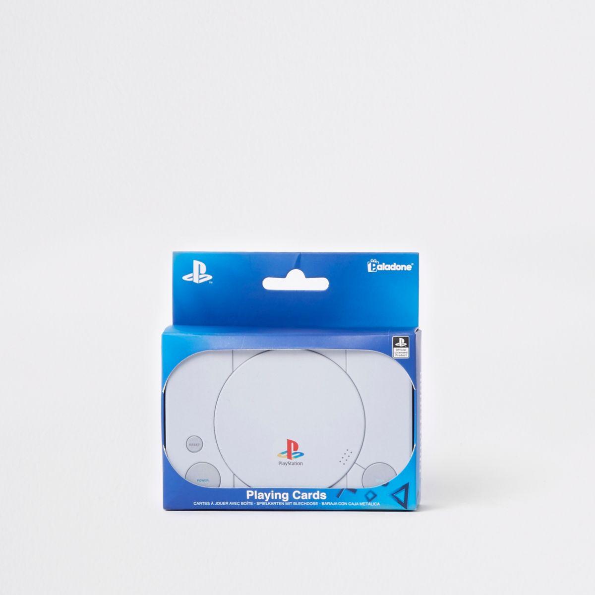 Grey PlayStation playing cards