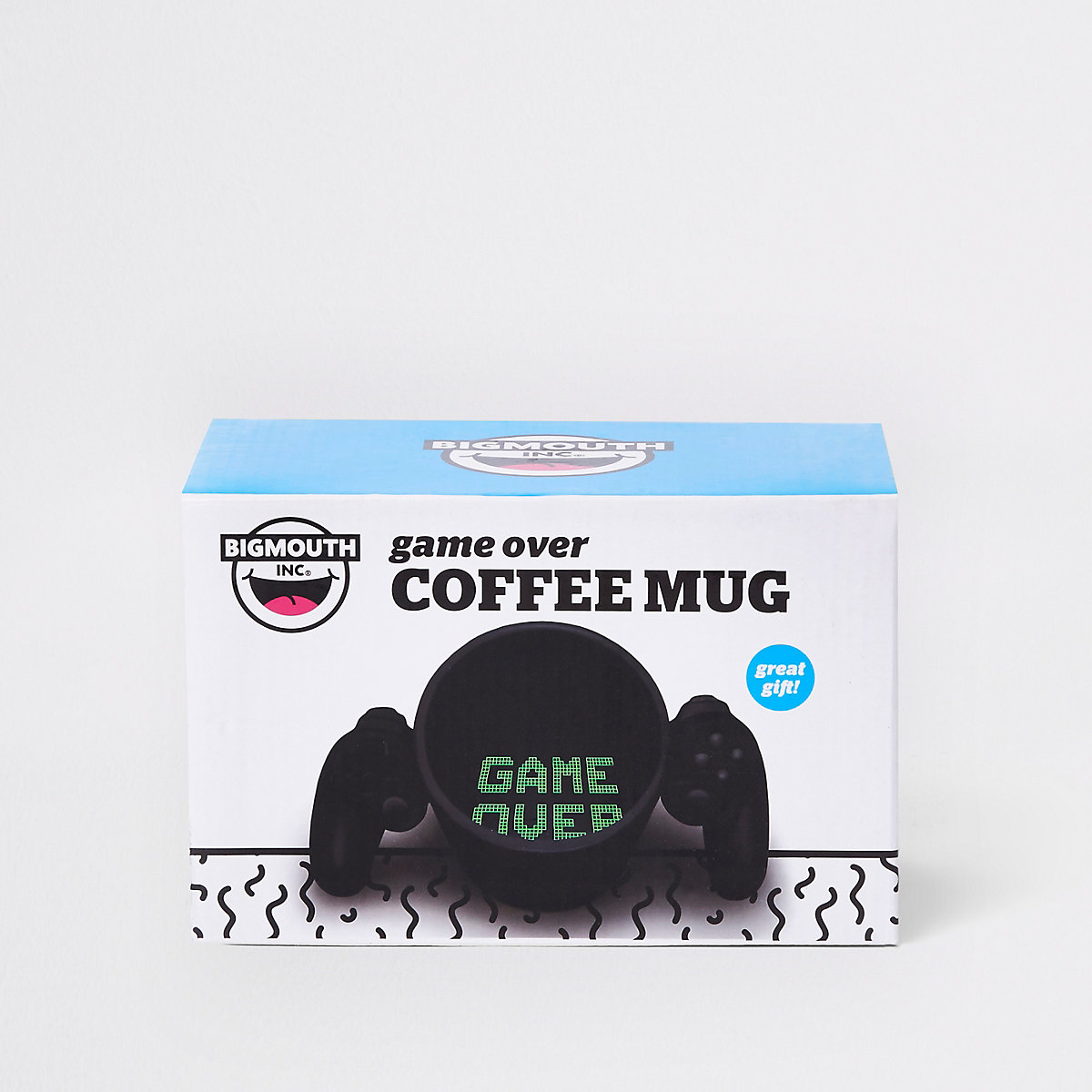 Black 'game over' coffee mug