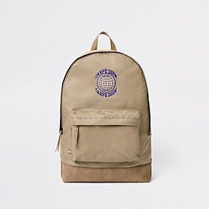 Stone 'Carpe Diem' front pocket backpack