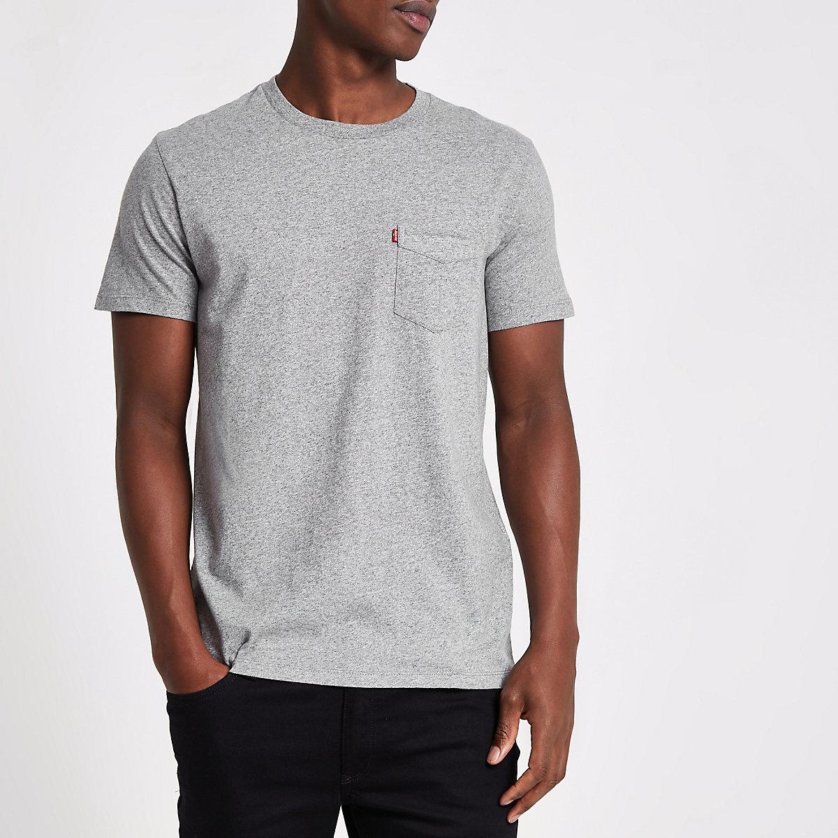 Levi's grey short sleeve pocket T-shirt