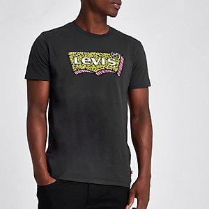 Levi's black graphic print crew neck T-shirt
