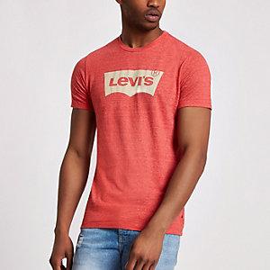 Levi's red logo print crew neck T-shirt