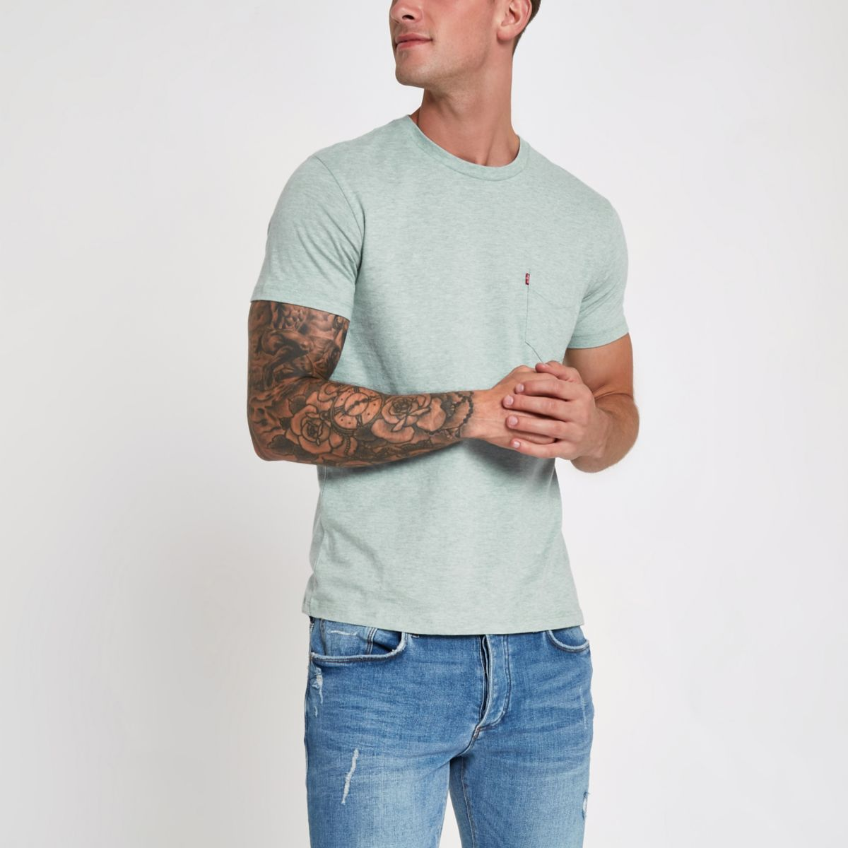 Levi's light blue short sleeve pocket T-shirt