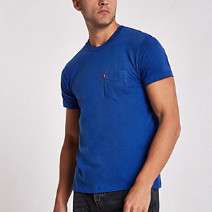 Levi's blue short sleeve pocket T-shirt