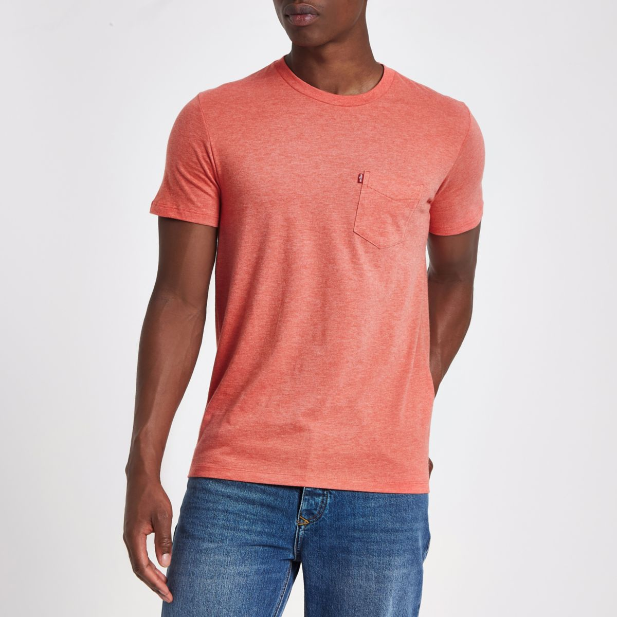 Red Levi's short sleeve pocket T-shirt