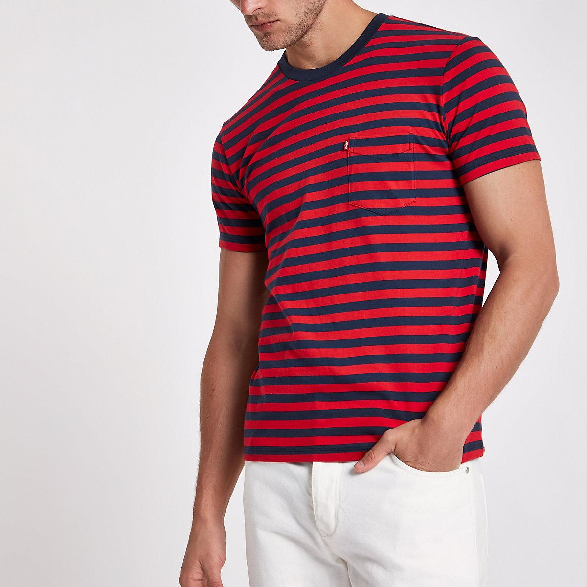 Levi's red stripe short sleeve pocket T-shirt