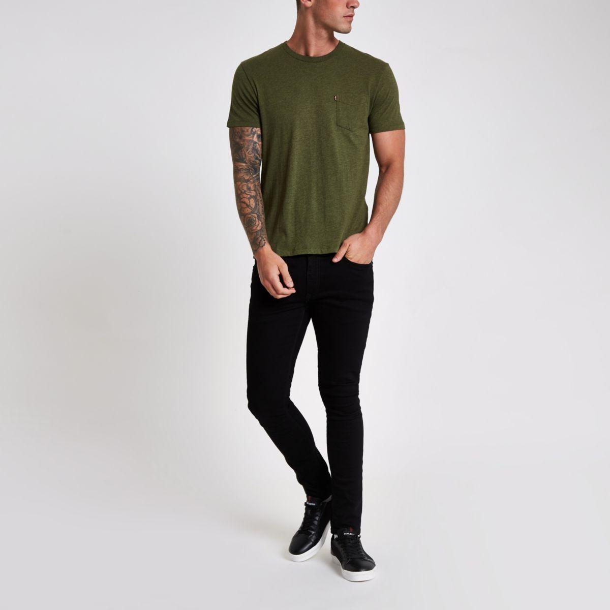 short khaki pocket T sleeve shirt Levi's wZqpd5q