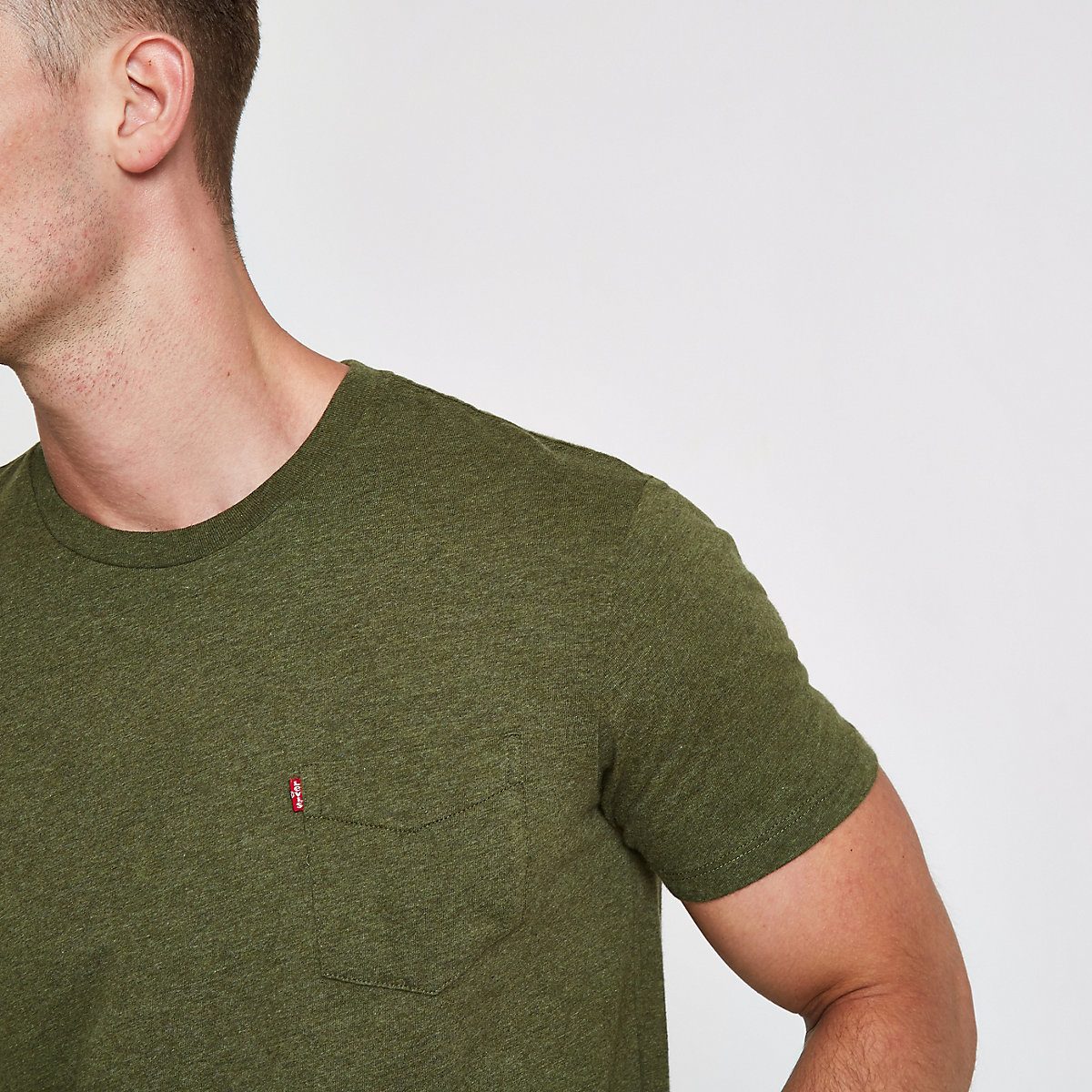 Levi's khaki short sleeve pocket T-shirt
