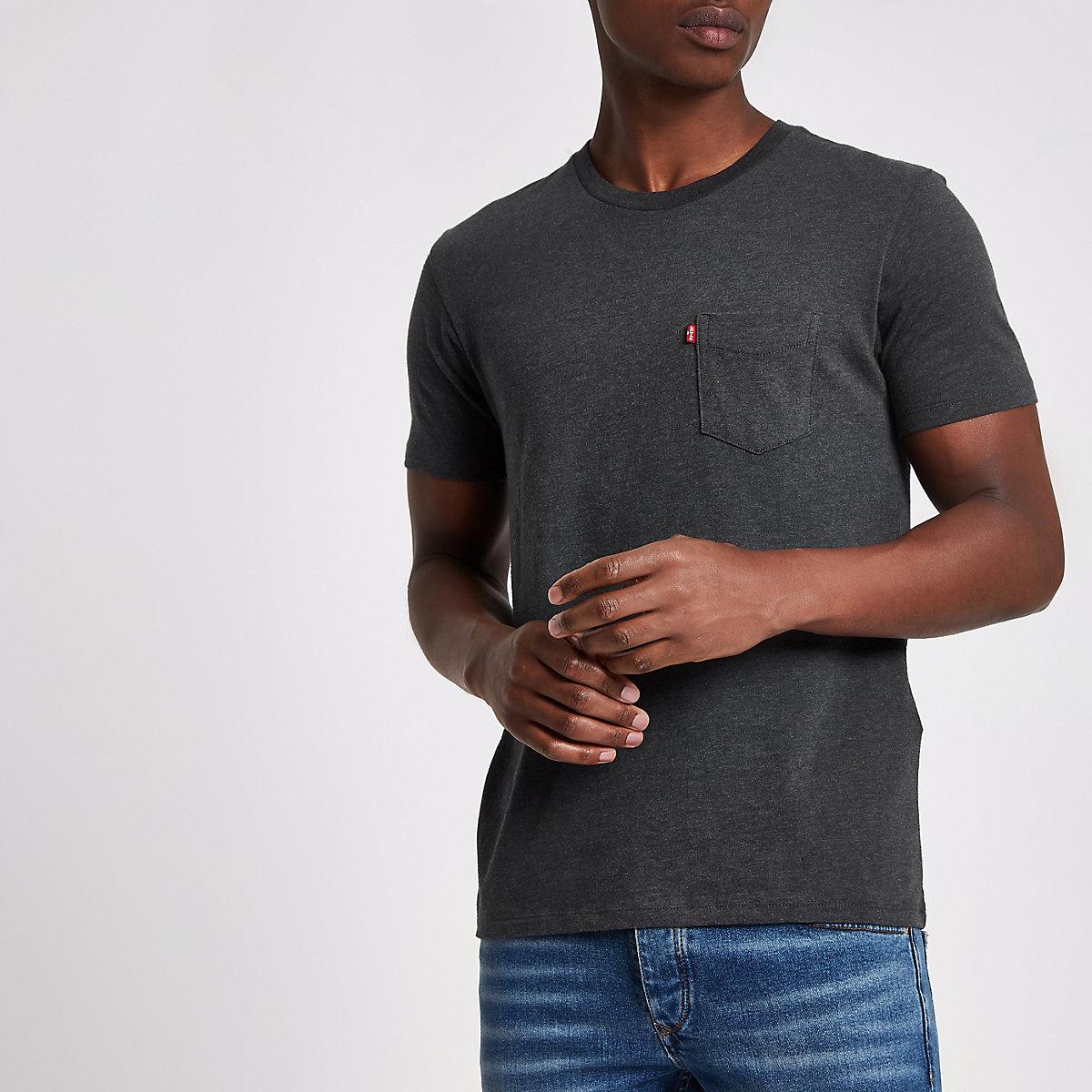 Levi's - T-shirt manches courtes à poche noir
