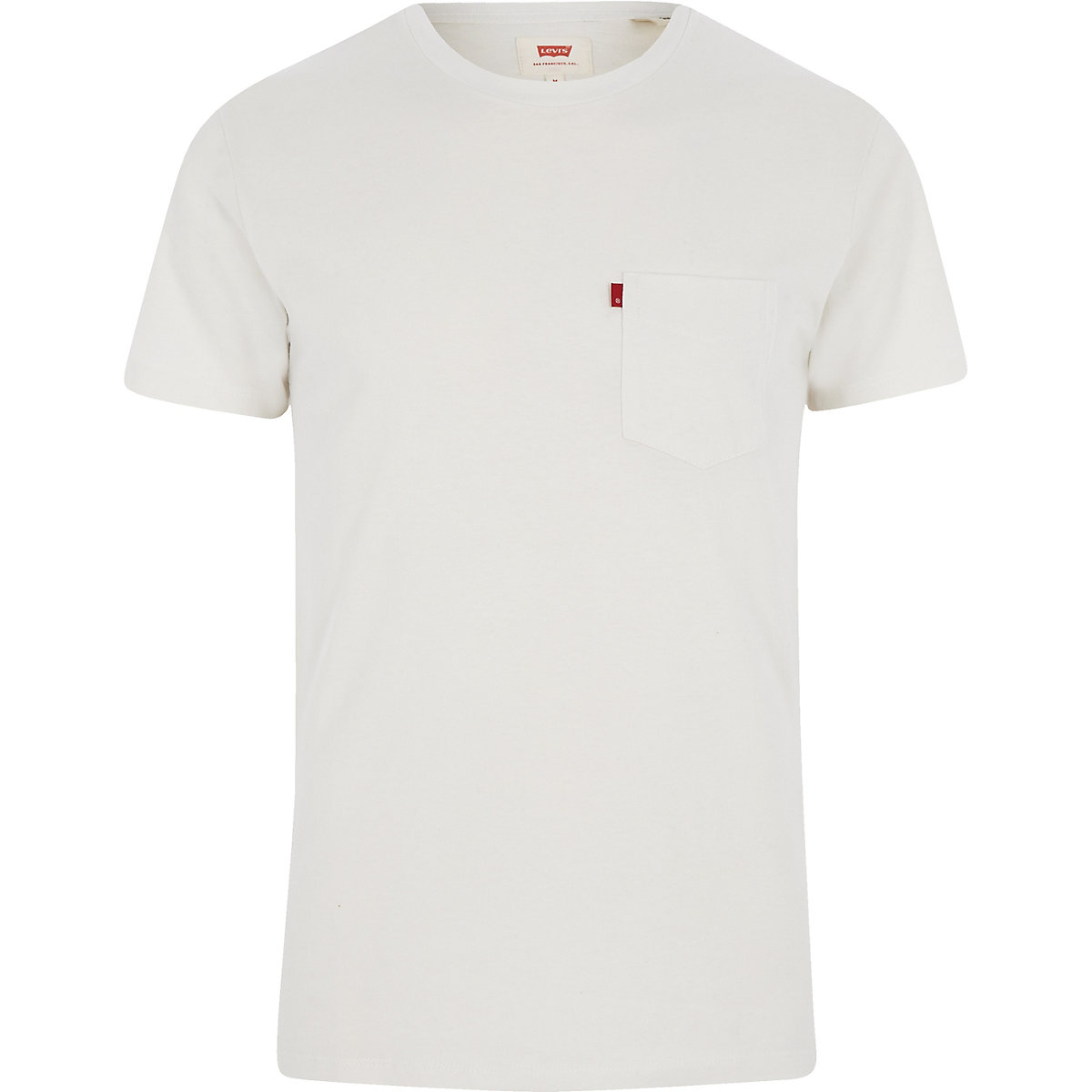 Levi's white set-in sunset pocket T-shirt