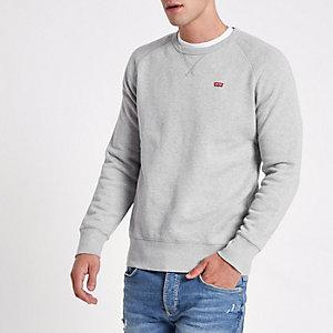 Levi's – Graues Sweatshirt mit Rundhalsausschnitt