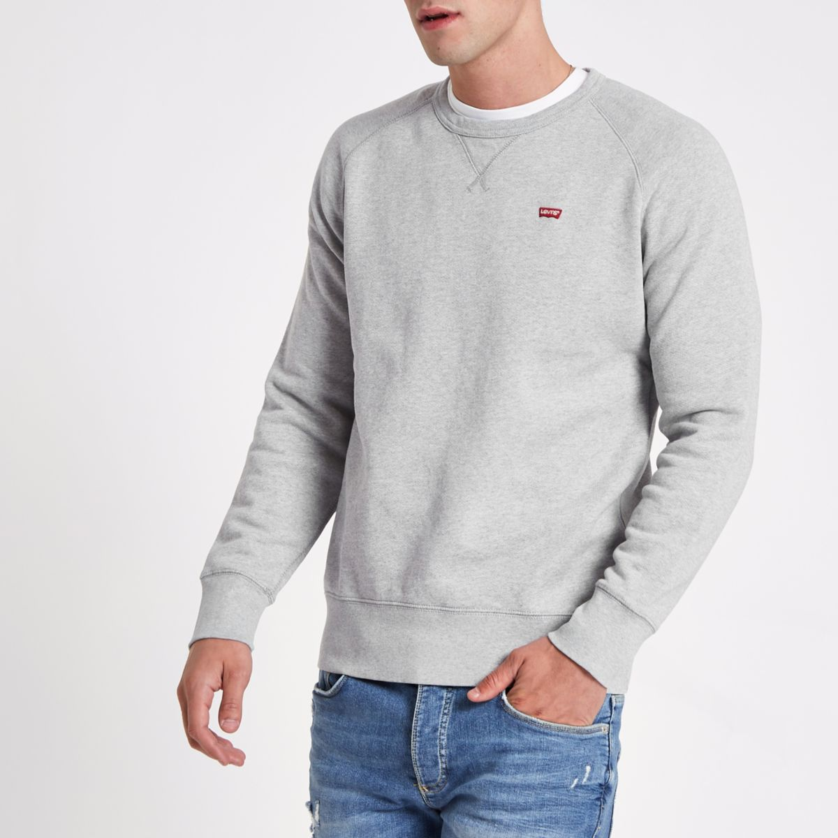 Levi's grey crew neck sweatshirt