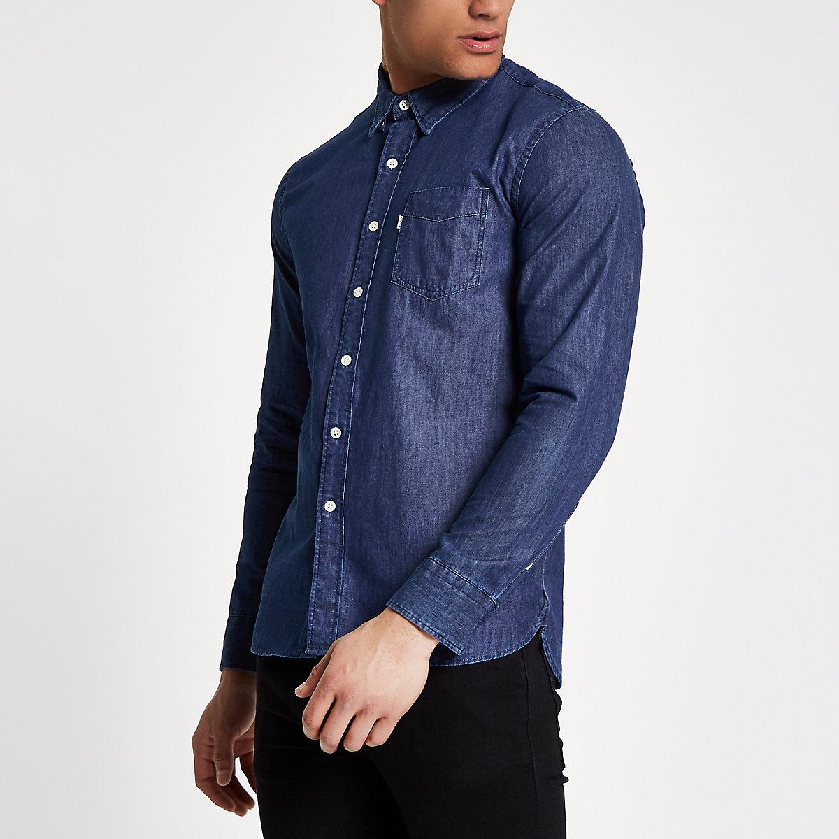 Levi's blue long sleeve denim shirt