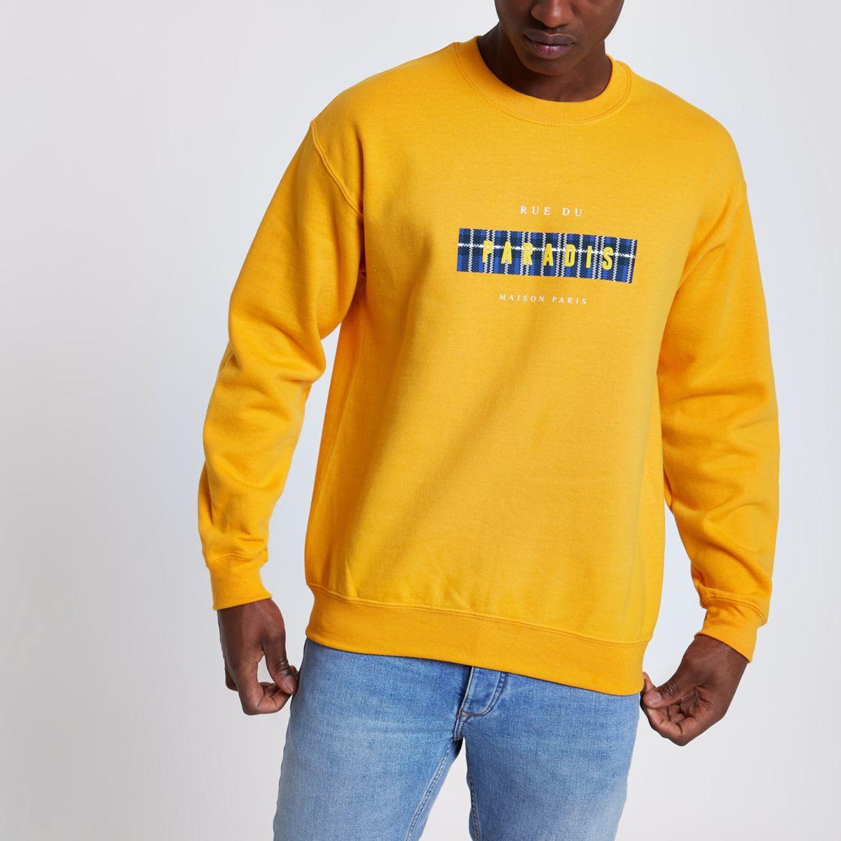Yellow 'Paradis' long sleeve sweatshirt