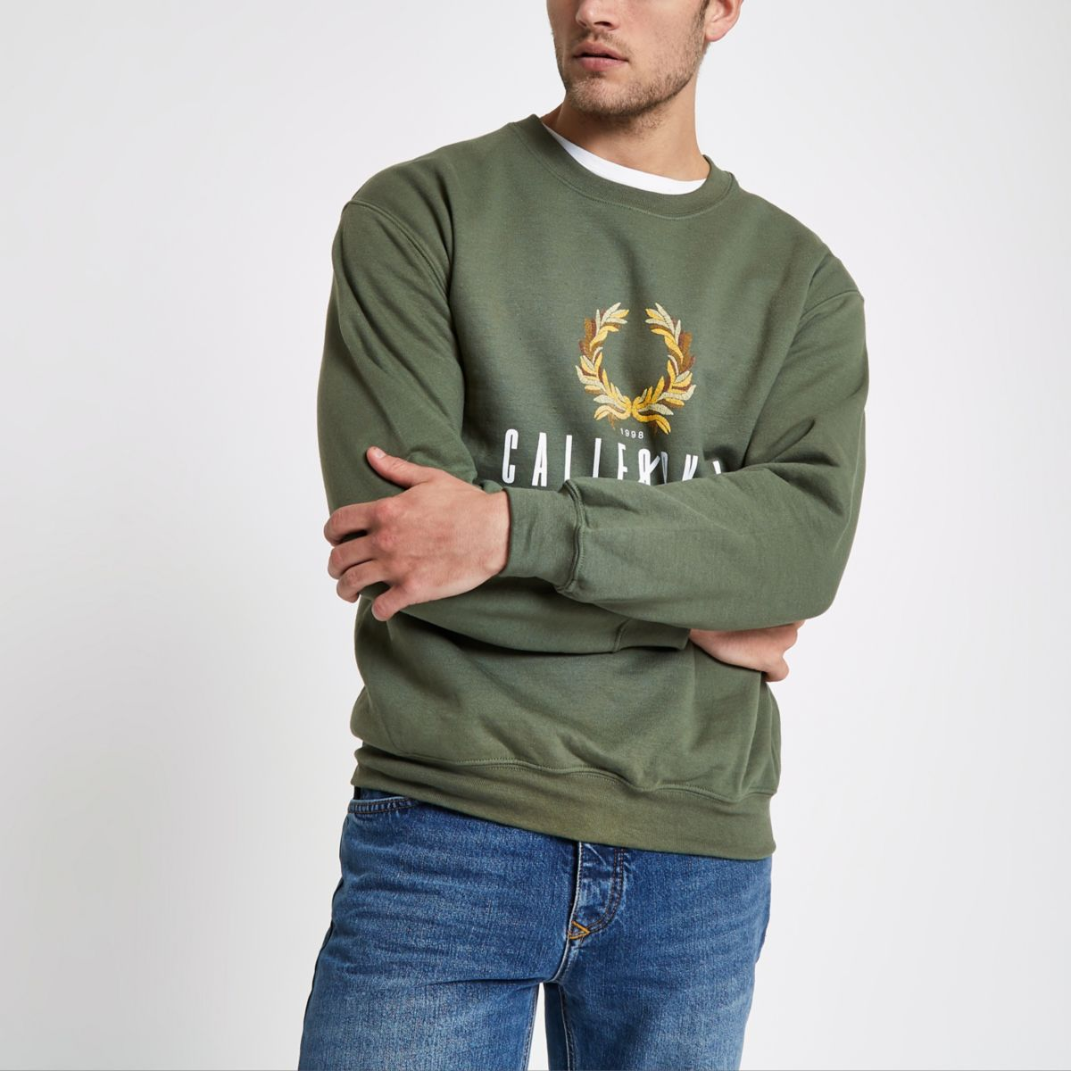 Dark green California reef sweatshirt