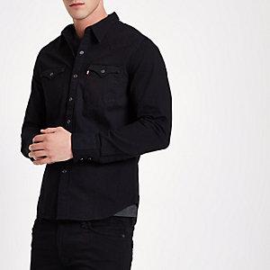 Levi's - Zwart denim westernoverhemd
