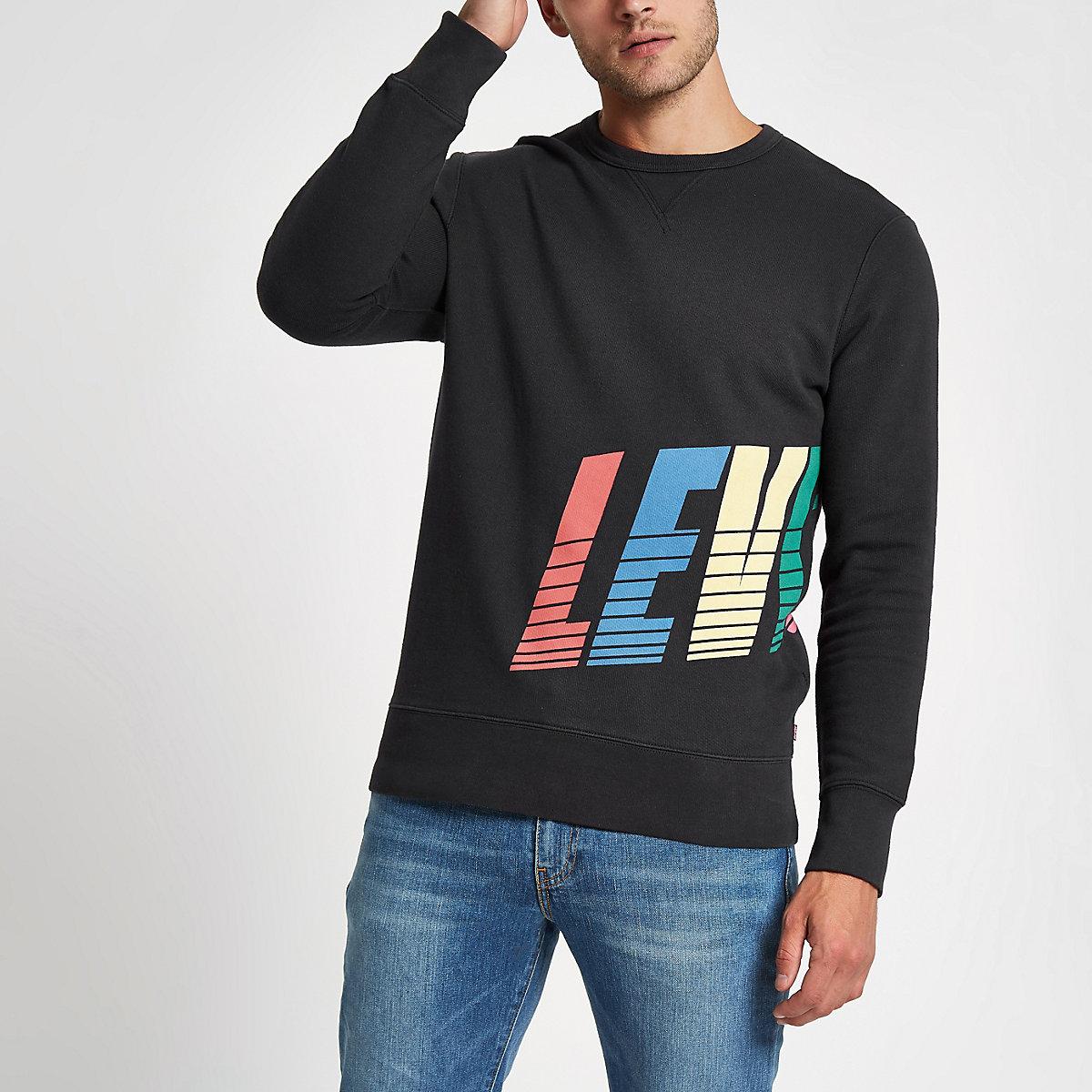 Levi's black graphic print sweatshirt