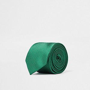 Cravate texturée verte