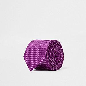 Cravate texturée rose