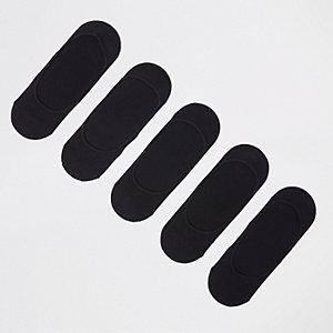 Black sneaker liner socks multipack