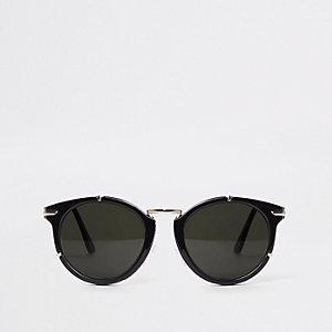 Zwart-en-goudkleurige cat-eye-zonnebril