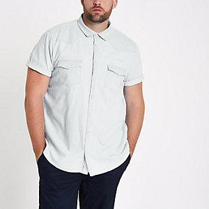Big and Tall - Blauw denim overhemd
