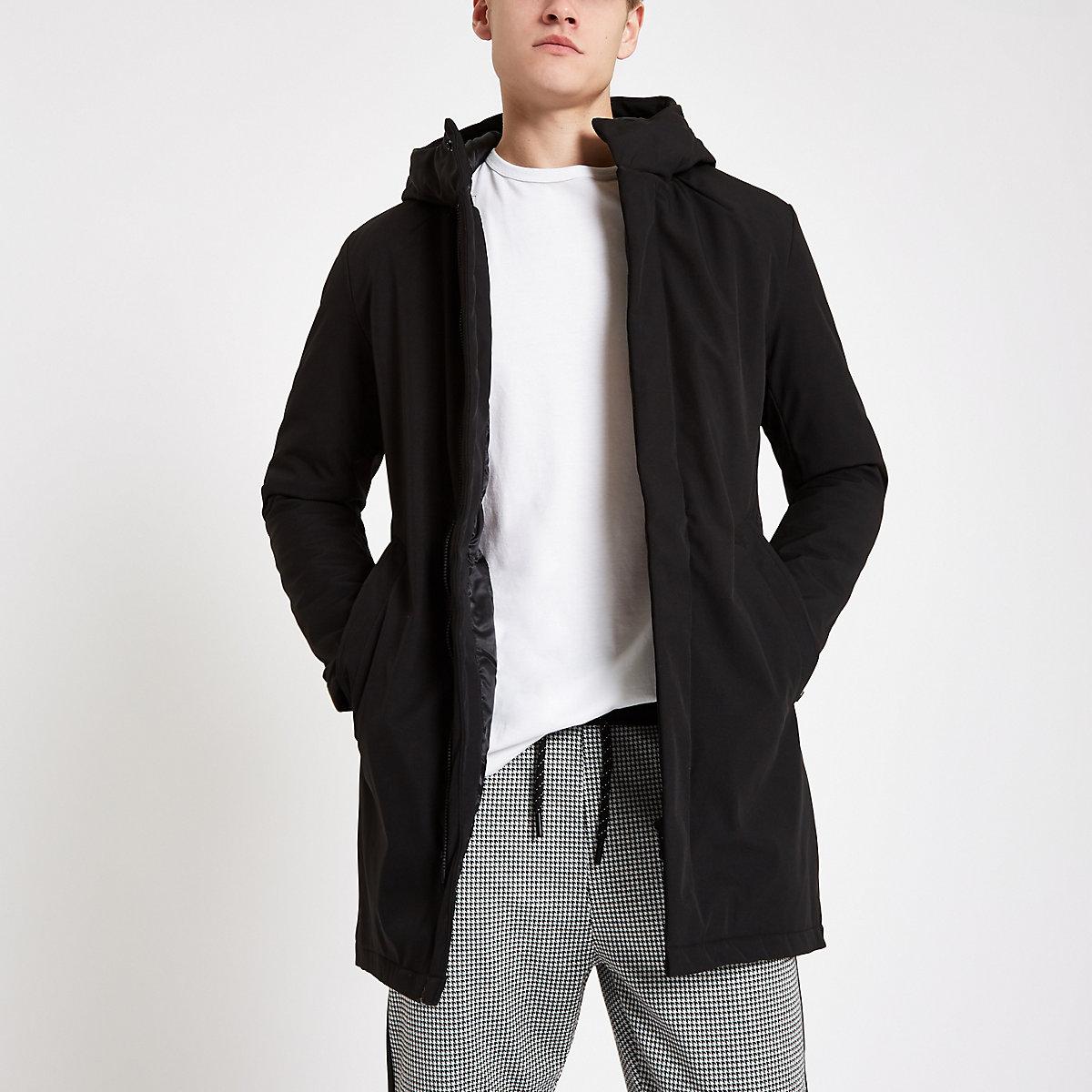 Jack & Jones black parka jacket