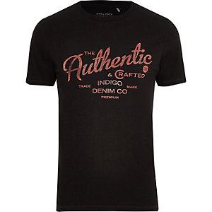 """Jack & Jones – Schwarzes T-Shirt """"authentic"""""""