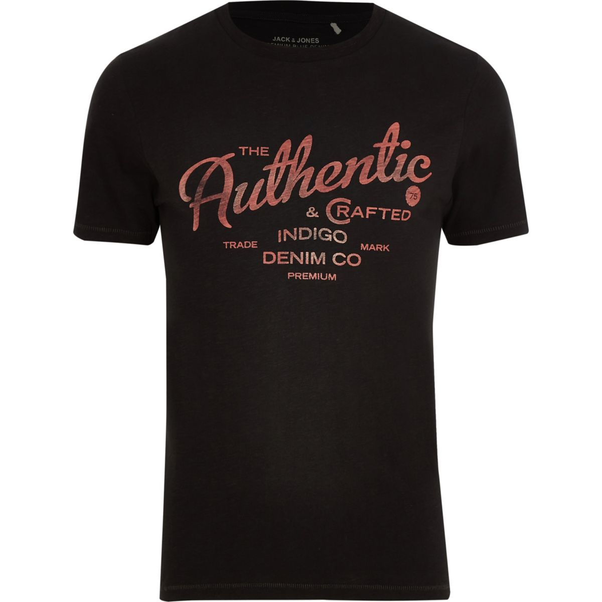Jack & Jones black 'authentic' T-shirt