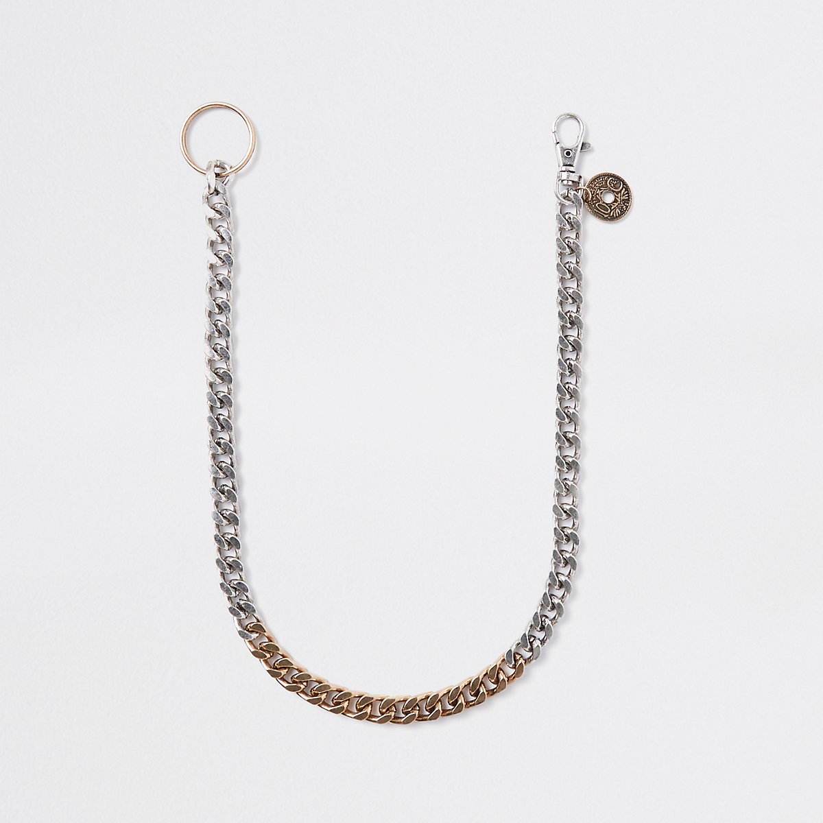 Gold and silver tone jeans chain