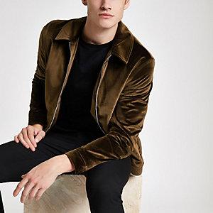 Olly Murs – Rostrote Harrington-Jacke aus Samt