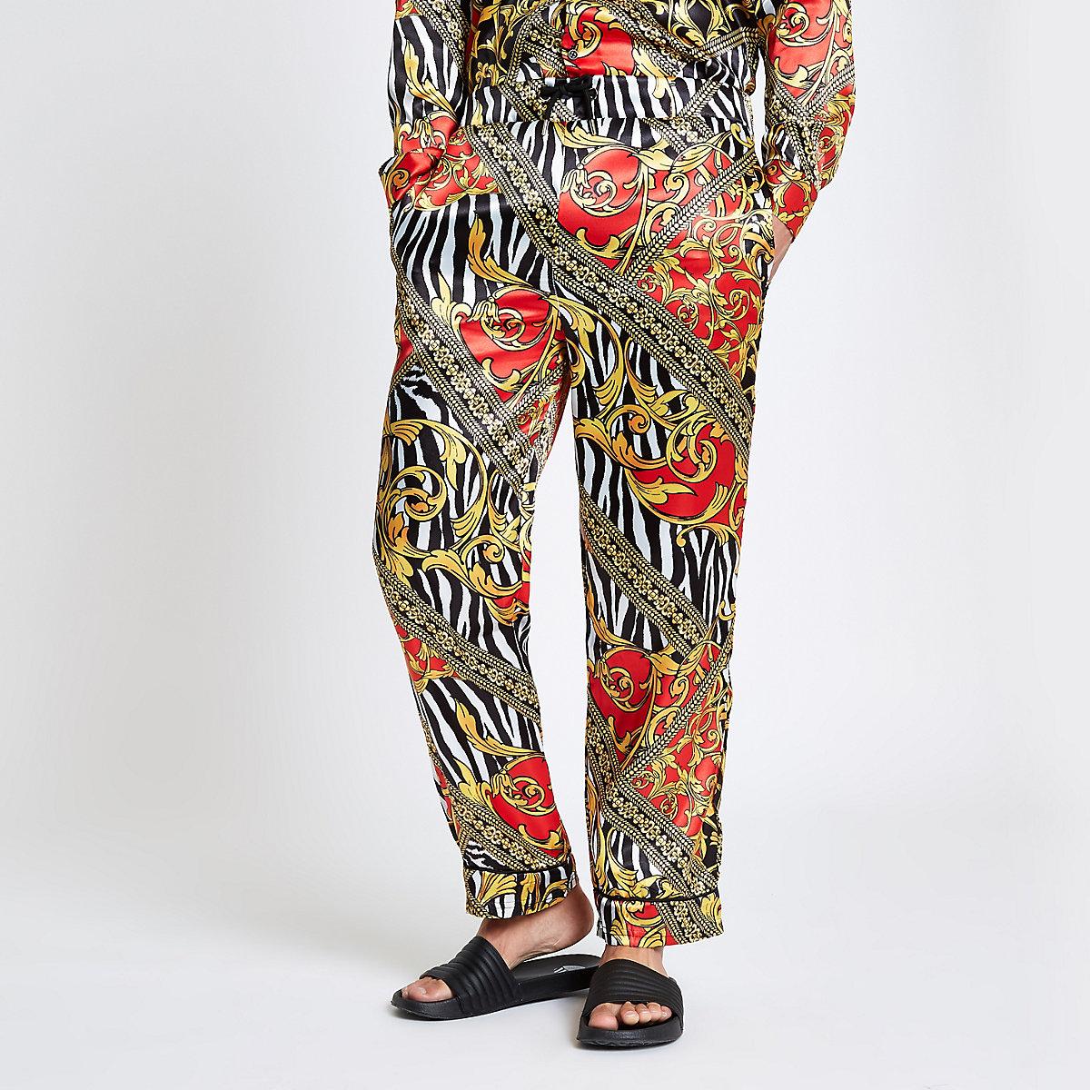 Jaded London yellow zebra print trousers