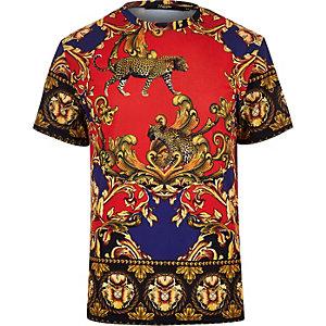 Jaded – Schwarzes T-Shirt mit Barock-Print