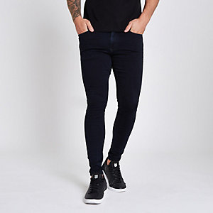 Ollie - Donkerblauwe superskinny spray-on jeans
