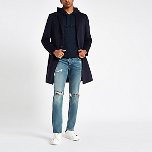 Lichtblauwe skinny ripped jeans