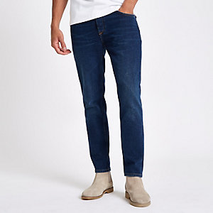 Dunkelblaue Slim Jeans