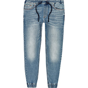 Ryan - Blauwe denim joggingjeans