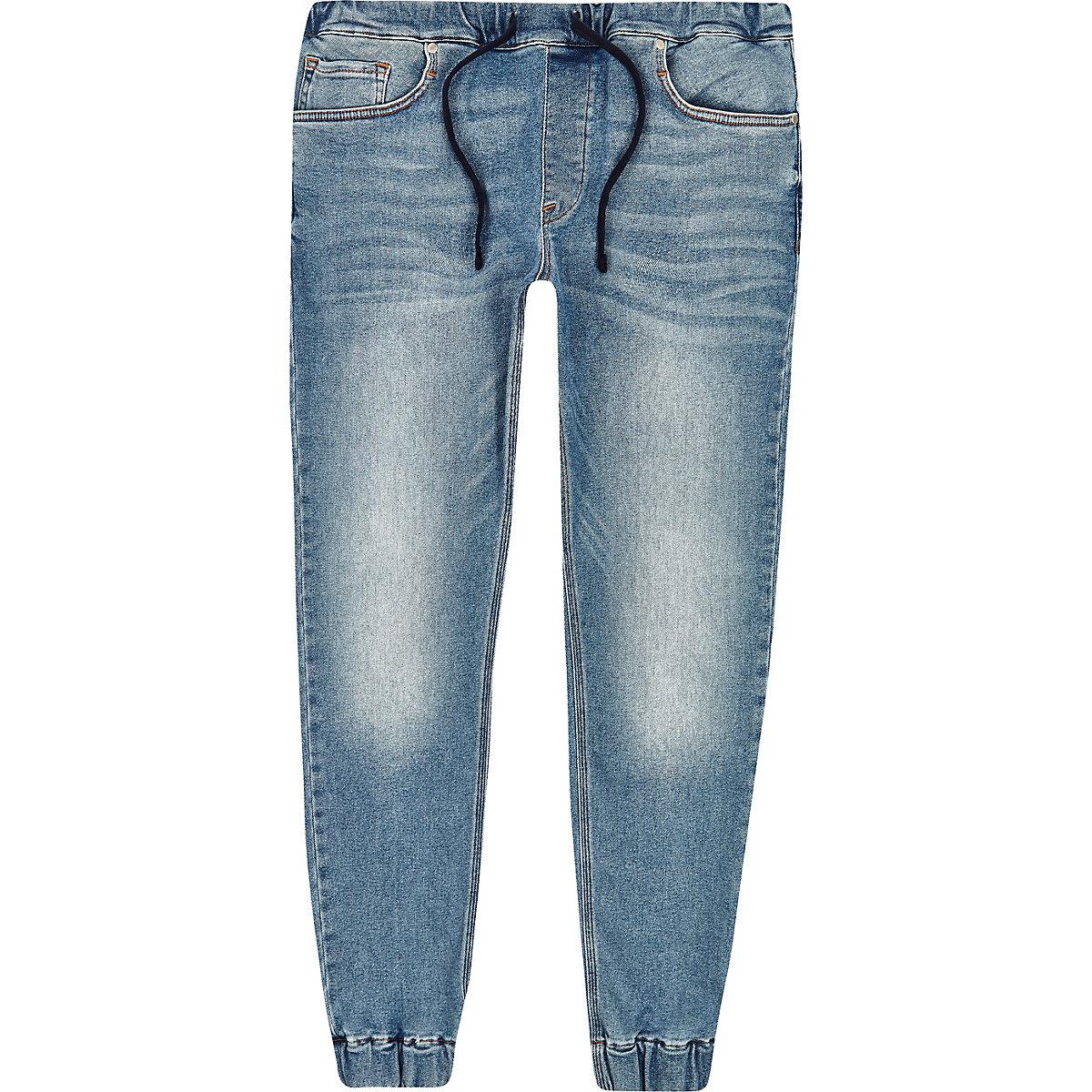 Blue Ryan denim jogger jeans