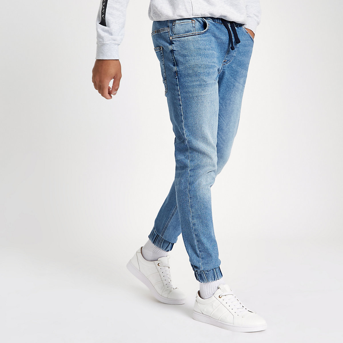 Mid blue Ryan jogger jeans